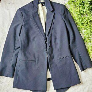 Veronica Beard Navy Cotton Blend Dickey Jacket